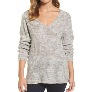 Caslon Grey Seam Detail V-Neck Tunic